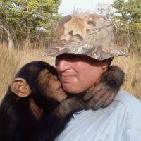 Andrew with Bobo in Guinea