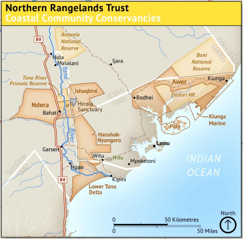 Map   Northern Rangelands Trust - Coastal Community Conservancies
