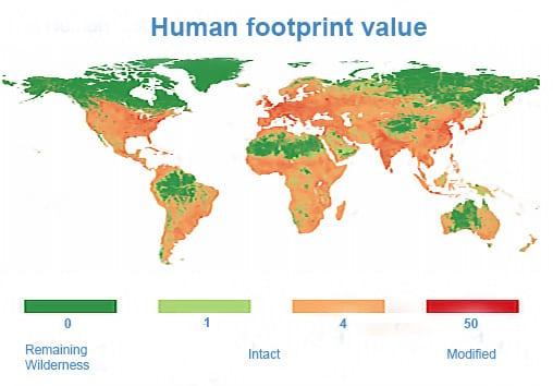 Human Footprint Value